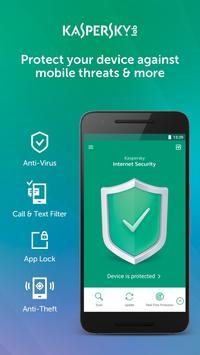 Antivirus Kaspersky para móviles y tablets Android Poster