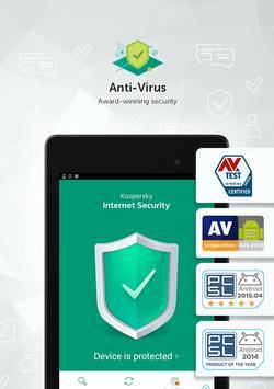 Antivirus Kaspersky para móviles y tablets Android captura de pantalla de la apk