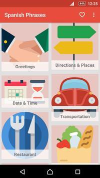 Learn Spanish Phrases - Spanish Phrasebook poster