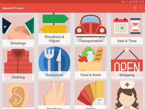 Learn Spanish Phrases - Spanish Phrasebook screenshot 8
