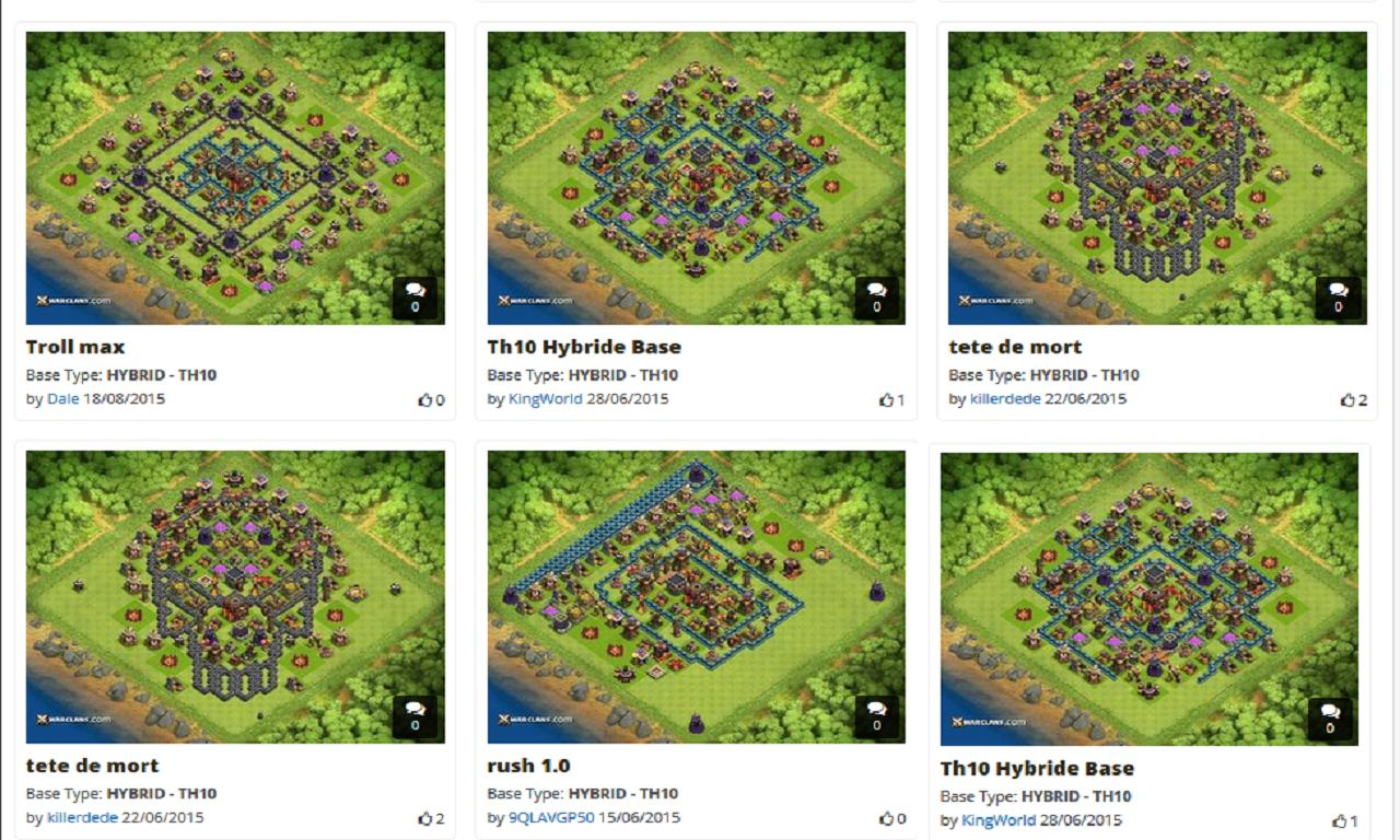 X MOD Coc Base Layouts for Android - APK Download