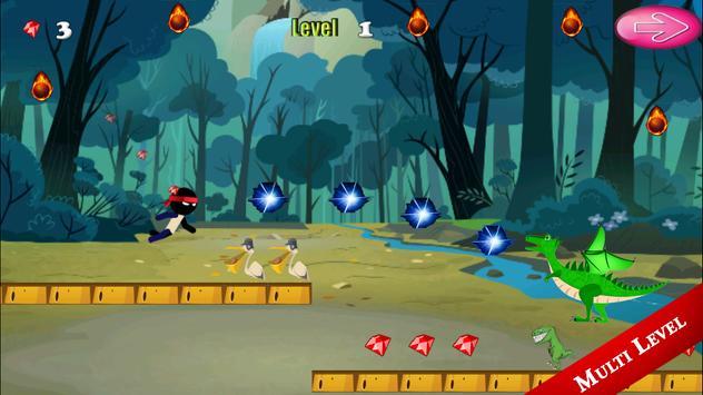 Ninja Jungle Castle Run screenshot 1
