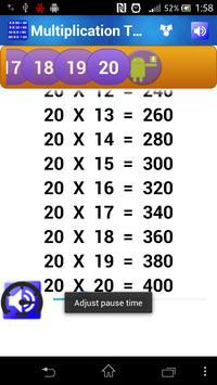 Multiplication Tables for Kids screenshot 3
