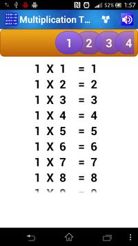 Multiplication Tables for Kids poster