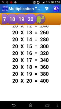 Multiplication Tables for Kids screenshot 2