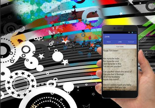 ZAYN Dusk Till Dawn Top Song Mp3 And Lyric apk screenshot
