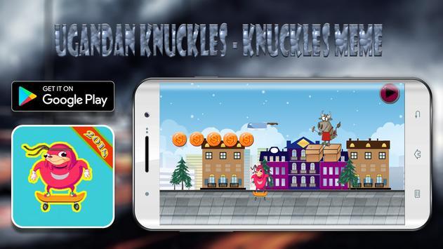 ugandan knuckles - knuckles meme poster