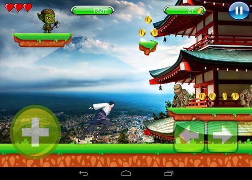 Copu samurai Adventure run screenshot 1
