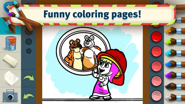 Masha Games Coloring Book, Painting Games for Kids APK Download ...