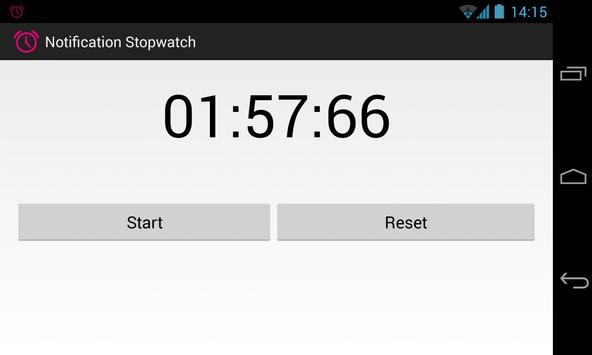 Notification Stopwatch screenshot 2