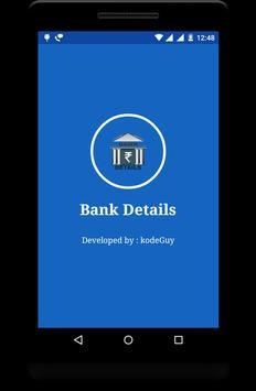 Bank Details - IFSC MICR Bank Info poster