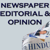 Newspaper Editorial and Opinion English Newspaper icon