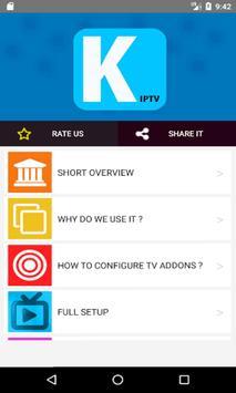 GUIDE FOR KODI APP IPTV 2017 screenshot 2