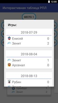 Интерактивная таблица РПЛ screenshot 3
