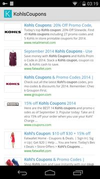 Coupons for Kohls poster