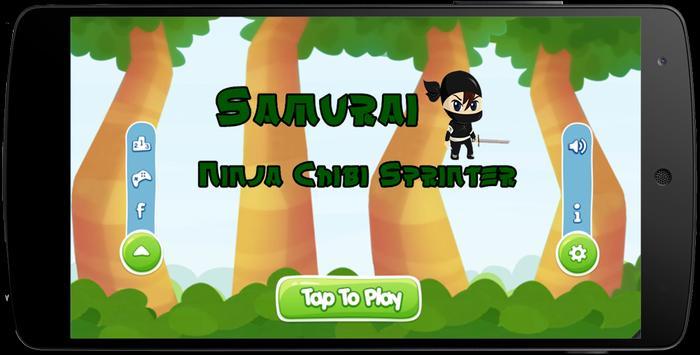Samurai Ninja Chibi Sprinter poster