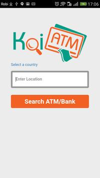 Koi ATM poster