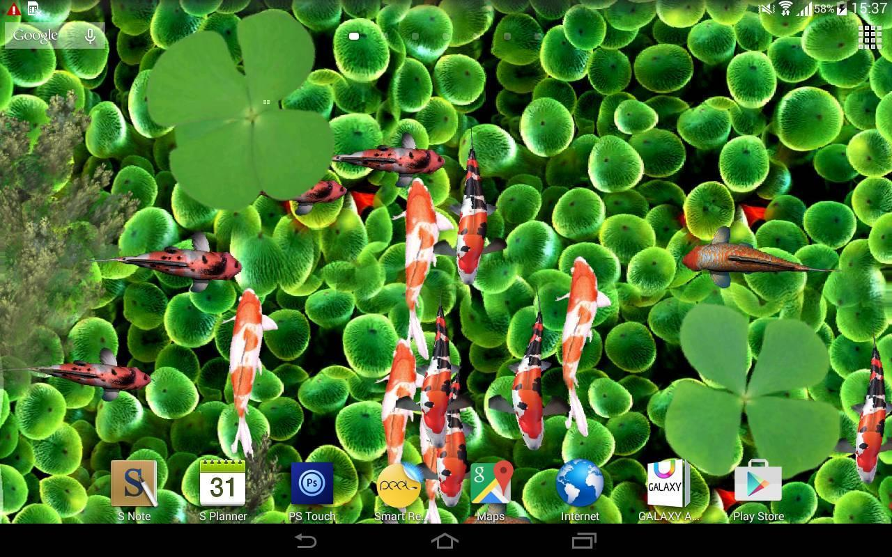 Koi Fish Live Wallpaper 3D poster ...
