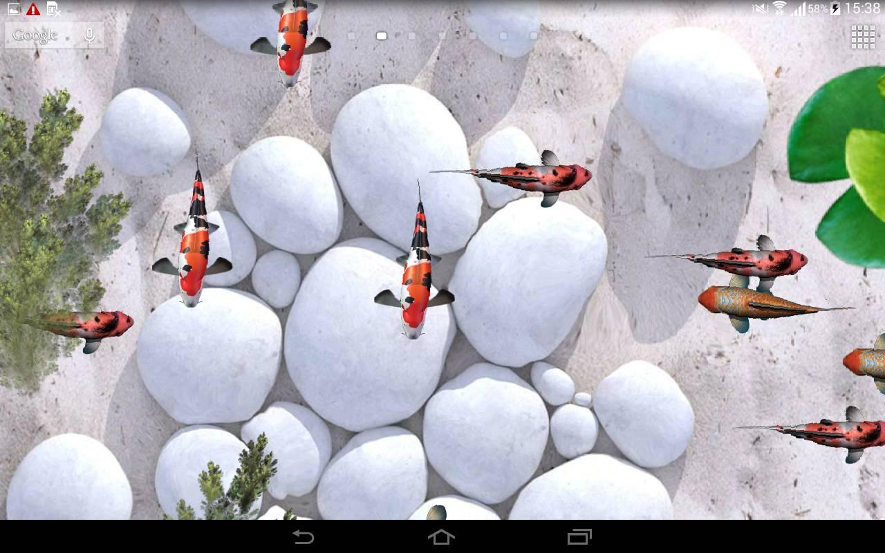 ... Koi Fish Live Wallpaper 3D screenshot 3 ...