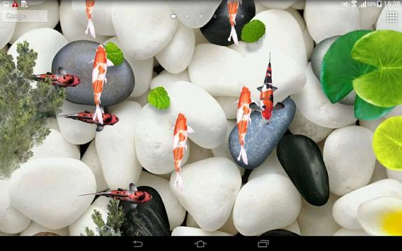 Koi Fish Live Wallpaper 3D Apk Screenshot