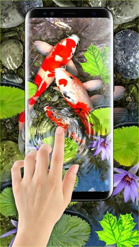 3D Koi Fish Wallpaper HD Live Wallpapers Free Screenshot 12