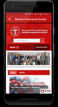 Bahrain Pharmacists Society poster