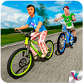 Kids Bicycle Rider School Race