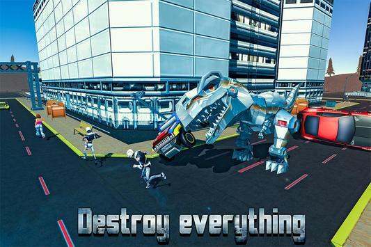 T-rex Dino Robot Rampage 2k17 apk screenshot