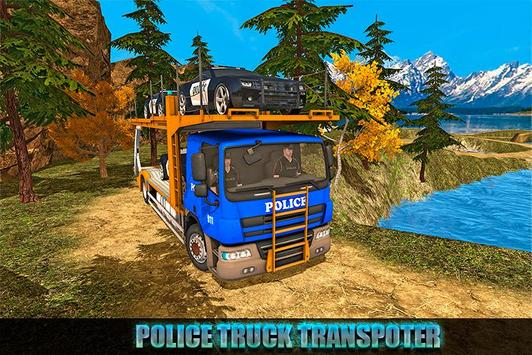 Offroad Police Transport Truck Sim poster