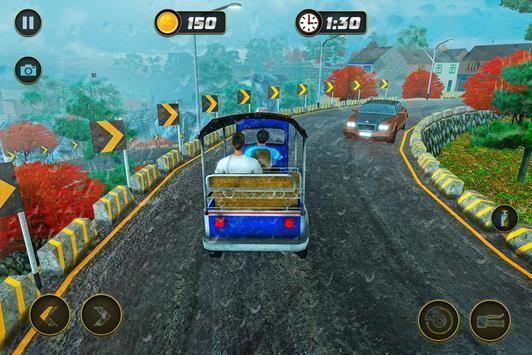 Taxi Games: Offroad Tuk Tuk Rickshaw Driving screenshot 9