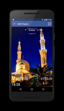 UAE (Emirates) Prayer Times poster