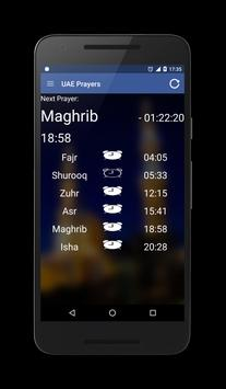 UAE (Emirates) Prayer Times screenshot 1