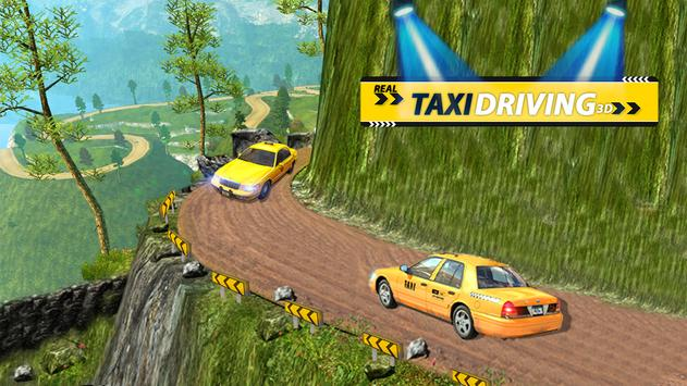 Real Taxi Driving 3D poster