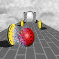 Bouncing Balls on The Wall 3D