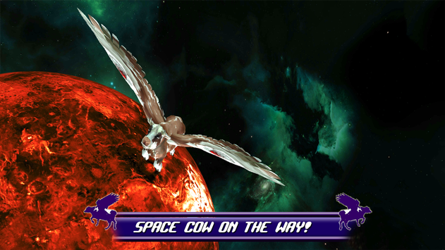 Flying Cow Rescue the Galaxy screenshot 2