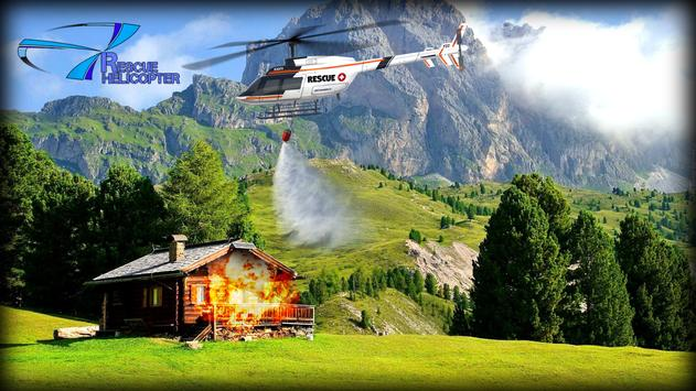 Helicopter Games Rescue Helicopter Simulator Game ポスター