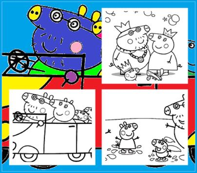 Coloring Page for Peppy Pig apk screenshot