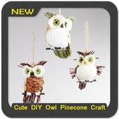 Cute DIY Owl Pinecone Craft icon