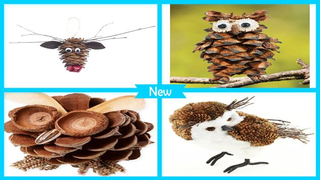 Cute DIY Owl Pinecone Craft poster
