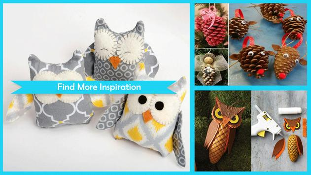 Cute DIY Owl Pinecone Craft apk screenshot