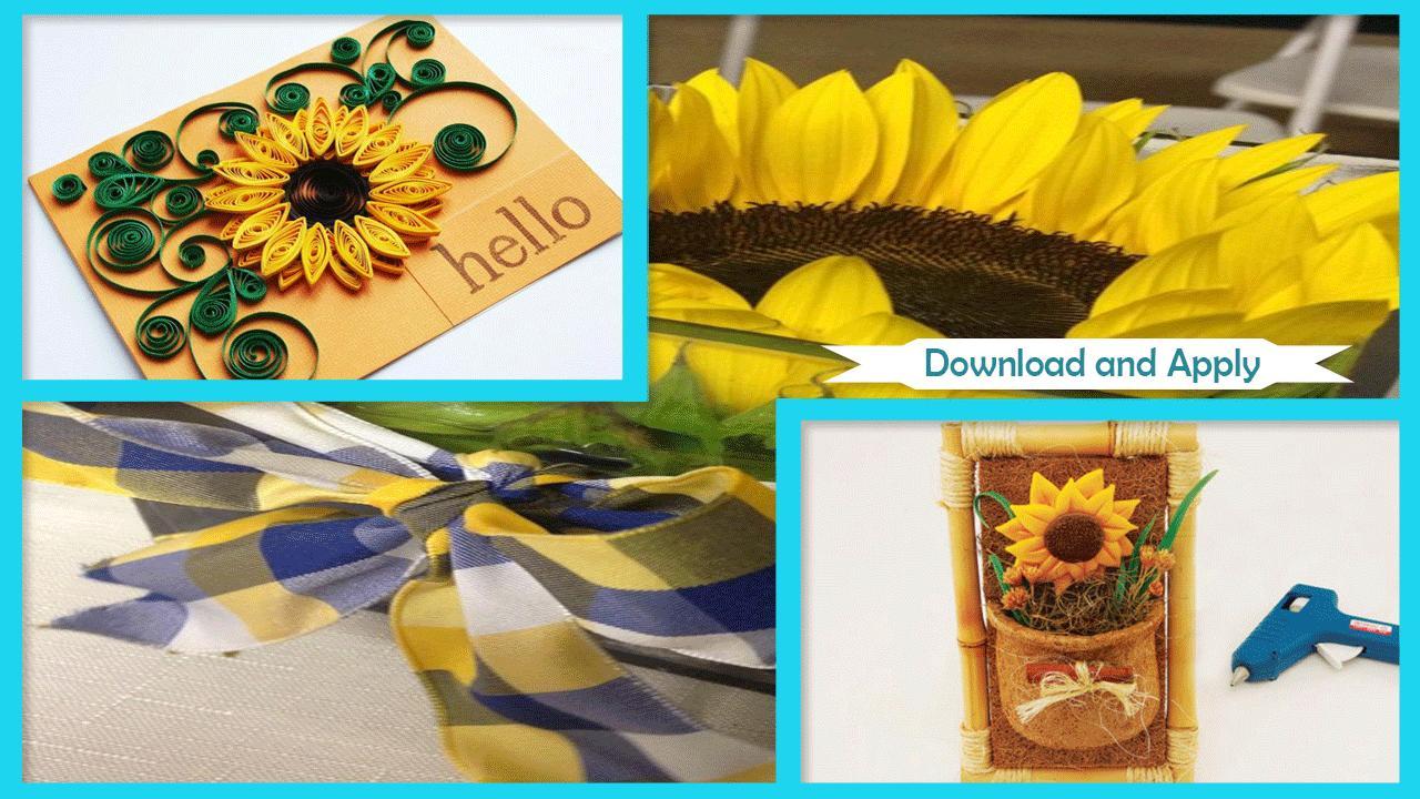 Easy DIY Sunflower Craft Ideas poster