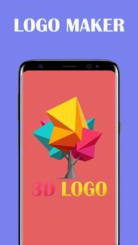 3D Logo Maker Name Art Logo Designer poster