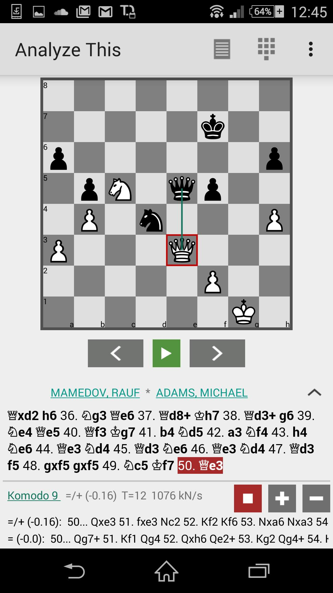 Komodo 11 Chess Engine for Android - APK Download