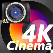 無音4K Proビデオカメラ(長時間分割録画,色彩や色合い調整,通常ズーム×10倍超望遠が出来ます) icon