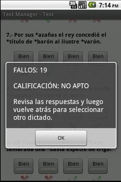 TestManager +Ortografía Dicta2 apk screenshot