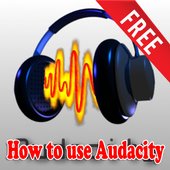 How to use Audacity icon