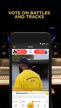 Battle Me: Rap Maker and Hip Hop Studio. Community apk تصوير الشاشة