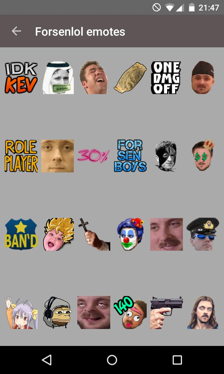 Twitch Emotes (BetterTTV) for Android - APK Download