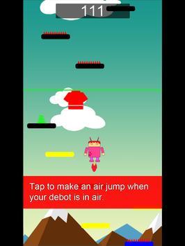 Debots crazy jump: a jump game apk screenshot