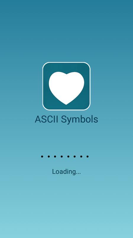 Ascii Symbols For Android Apk Download